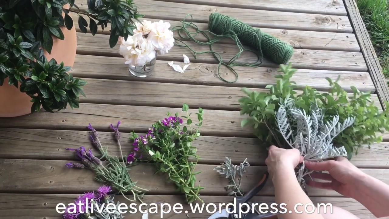 Create a Simple Rustic Flower Bouquet - YouTube