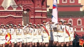 Москва. Парад Победы на Красной площади 9 мая 2016. Проход пеших колонн