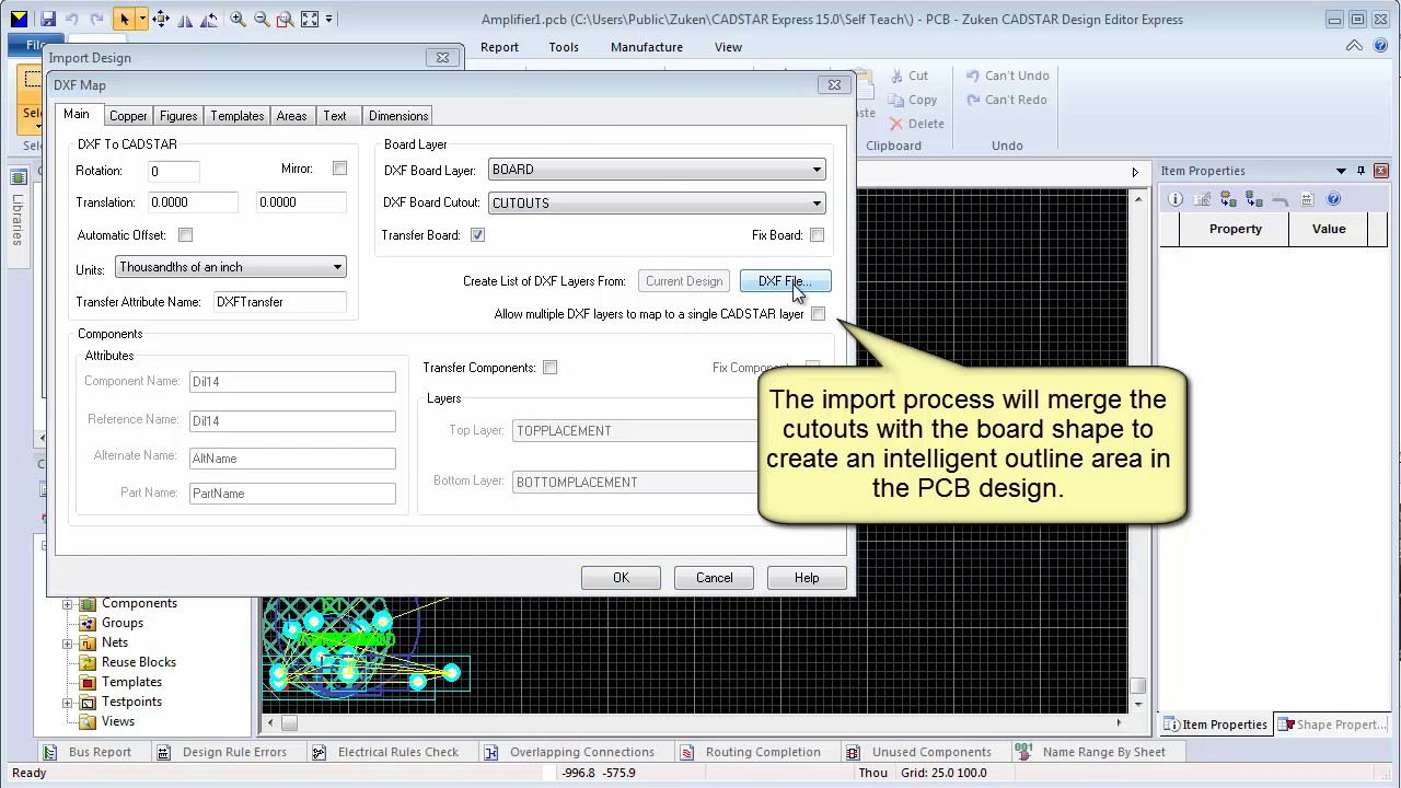 CADSTAR - Importing Board Outlines using DXF
