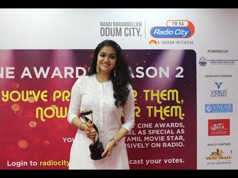 City Cine Awards Tamil - Keerthy Suresh | Favourite Heroine...