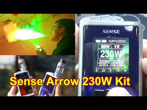 Sense Arrow 230W TC Kit | Did you ever see colorful vapor? | | Herakles lll Sub Tank