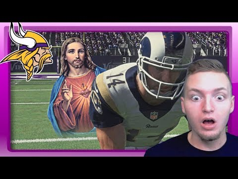 WE PLAY AGAINST JESUS! - Madden 18 Vikings Connected Franchise #16