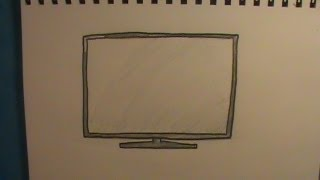 How to Draw a TV: Flat Screen TV / HDTV