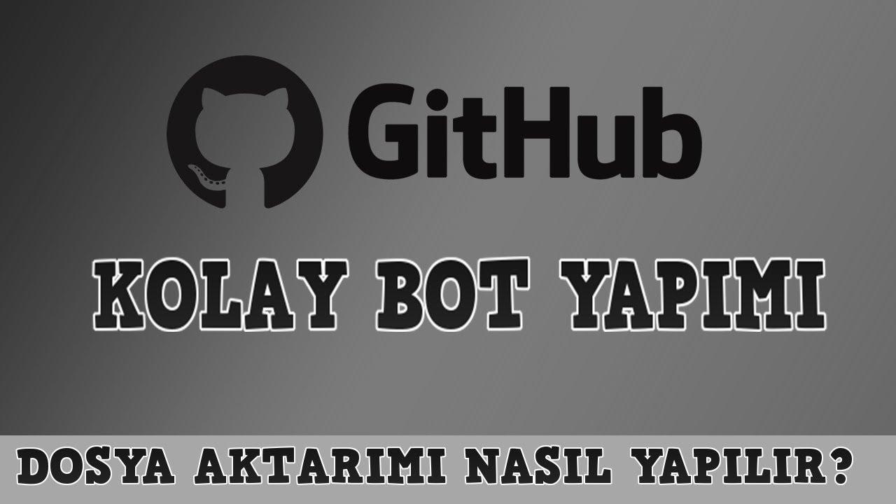 GİTHUB'DAN HAZIR BOT YAPIMI !? - Discord Bot Dersleri