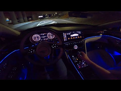 BENTLEY Flying Spur W12 | NIGHT DRIVE POV | AMBIENT LIGHTING by AutoTopNL