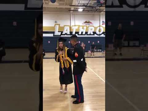 Maverick - Marine Brother Surprises His Sister at Her High School Graduation