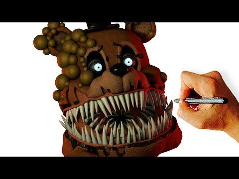 how to draw twisted freddy livestream youtube