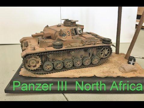 Building the Tamiya  1/35 Panzer III  ausf N,  North Africa, plastic models