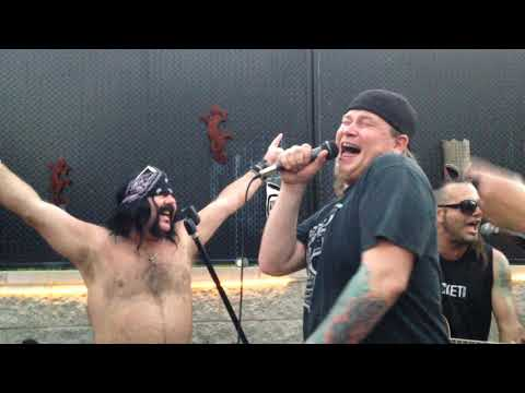 Vinnie Paul pool party with GODSMACK Sully Erna and friends!