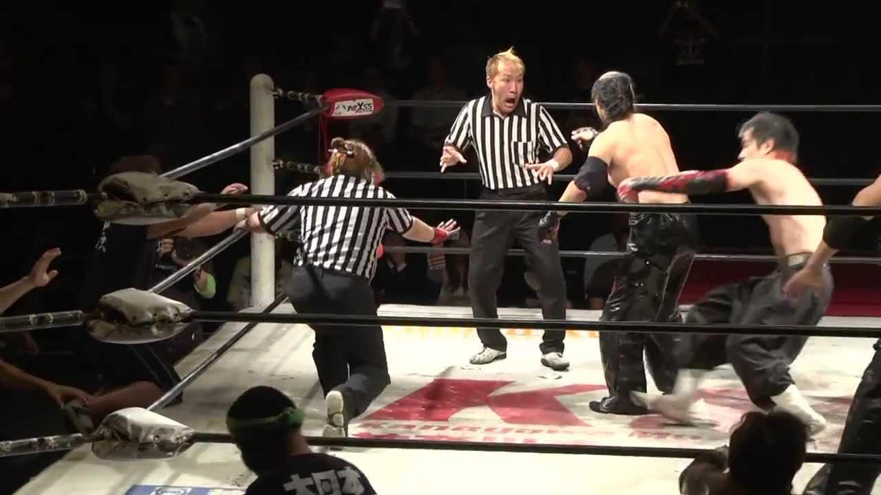 7.28名古屋でのタッグ選手権に関する大橋レフェリー会見 - YouTube