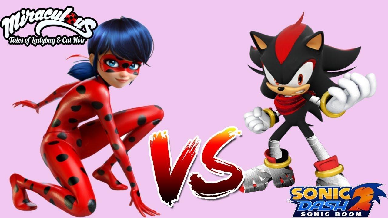 Shadow the Hedgehog - Sonic Dash 2: Sonic Boom Vs Miraculous Ladybug & Cat  Noir