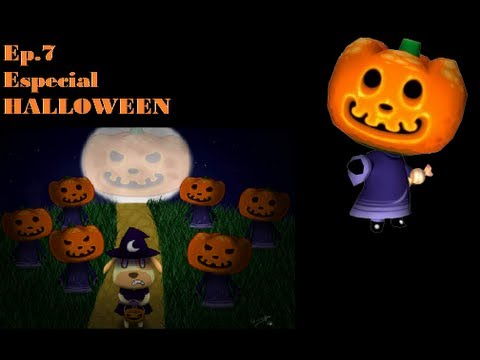 animal crossing new leaf hd ep7 especial halloween soponcio el tragachuches - Halloween Animal Crossing City Folk