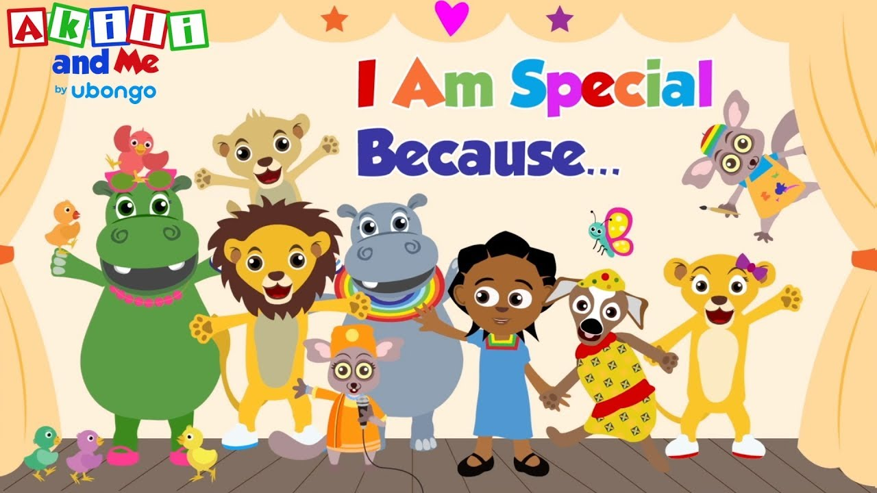 I Am Special Because... | and other books and songs from Akili and Me, African cartoons!