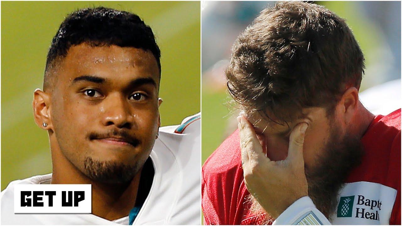 Ryan Fitzpatrick replaces Tua Tagovailoa as Miami Dolphins ...
