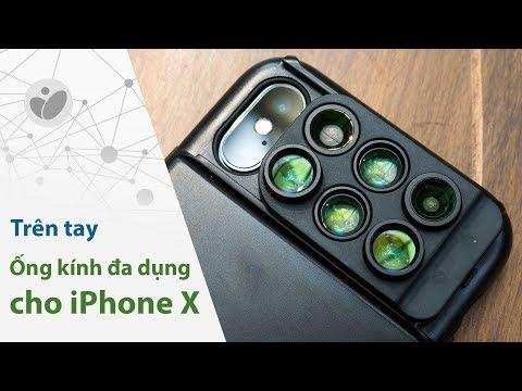 Ống kính gắn rời cho iPhone X - Góc rộng, tele, fisheye,...