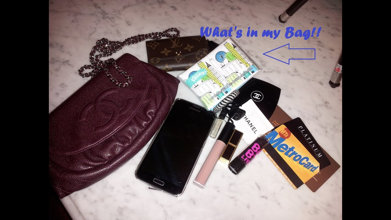 What s in my bag chanel wallet on a chain youtube