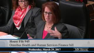 House Health and Human Services Finance Committee  3/29/17