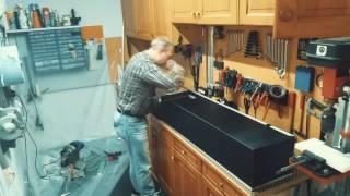 Kofferbau für Stative aus Dibond Platten.