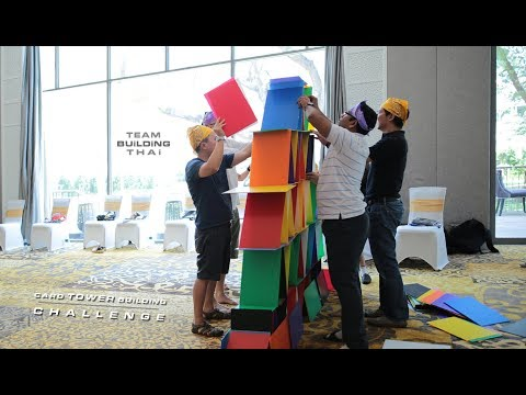 card-tower-challenge-team-building-activity-game-for-corporate-event-in-thailand