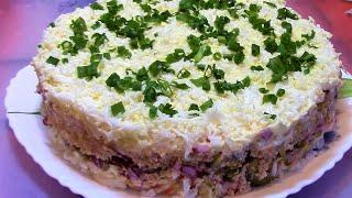 Салат из консервированных кальмаров Мой любимый ./Праздничный салат / Новогодний салат .