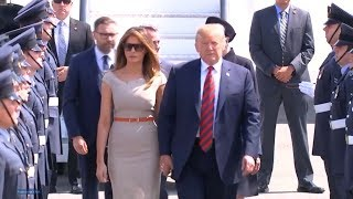 President Trump and First Lady Melania Trump arrive in London, UK  July 12, 2018  President Trump ar