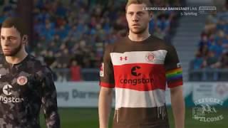 FIFA : 2. Bundesliga 2017/18 : SV Darmstadt 98 - FC St. Pauli : 1. Halbzeit