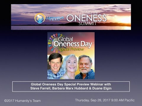 Global Oneness Day Preview with Barbara Marx Hubbard & Duane Elgin