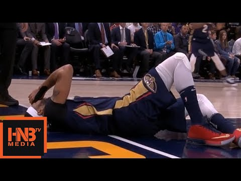 Anthony Davis Serious Injury / Pelicans vs Jazz
