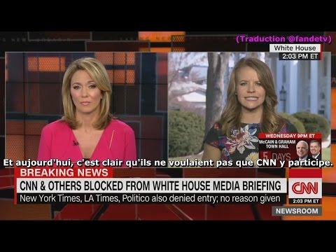 CNN se plaint d'avoir été exclu du briefing de la Maison Blanche (CNN, 24/02/17, 22h)
