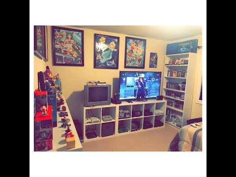 2017 GAME ROOM TOUR / Small Collection 400 Games, 20+ Consoles!