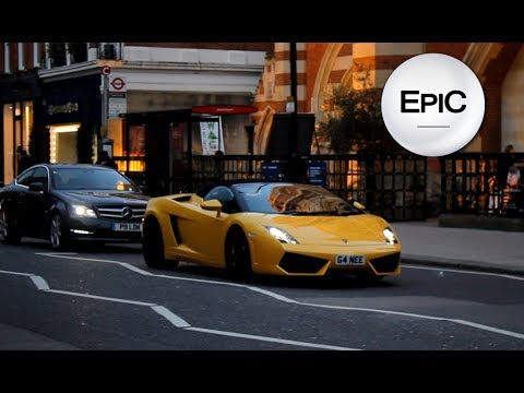 Sports Cars in Chelsea - London, UK (HD)