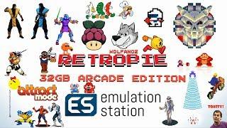 32gb Arcade Only Retropie 4.4 MAME Wolfanoz