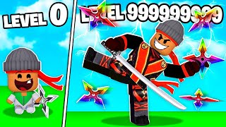 I BECAME A LEVEL 999,999,999 ROBLOX NINJA