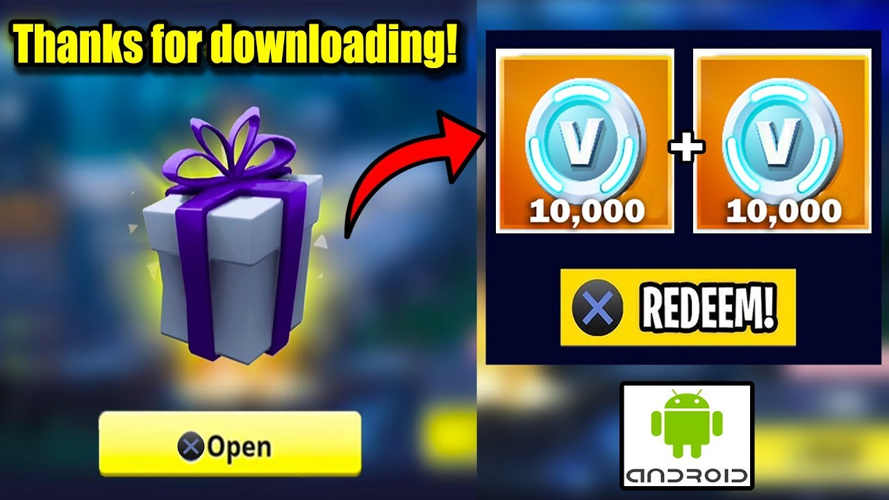 New Download Fortnite And Get 18 000 Free V Bucks On Your Account