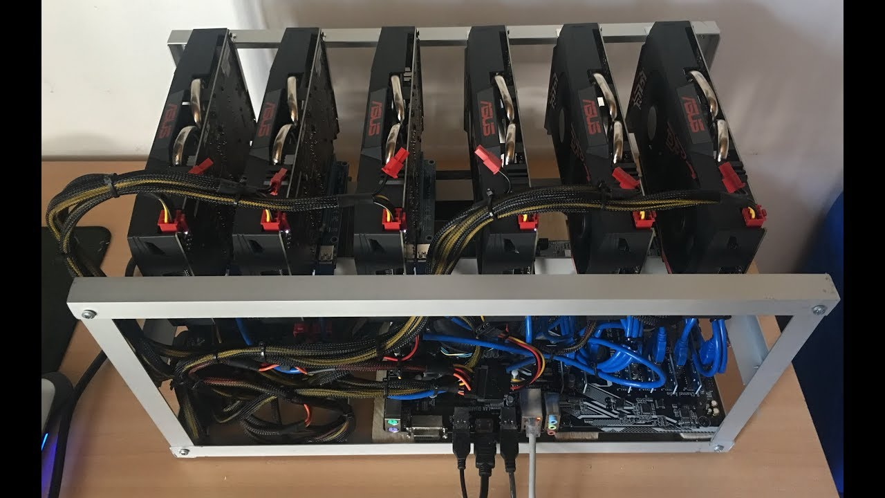 ASUS Mining-P106-6G x 6 mining rig 153Mh/s