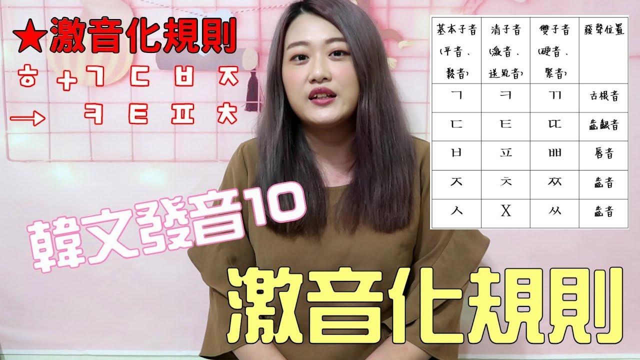 《韓文發音10》韓文音變規則-激音化規則 - YouTube