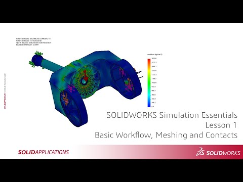 solidworks-simulation-essentials---lesson-1---simulation-workflow,-meshing-and-contacts