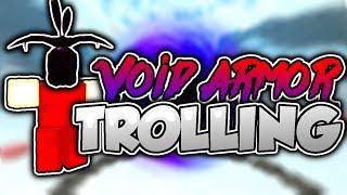 VOID ARMOR NOOB TROLLING! (Roblox Booga Booga)