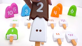 Teach Numbers 1 to 10 with Toy Ice Cream Popsicles!
