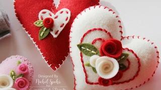 Simon Says Stamp Felt Plush Heart Valentine