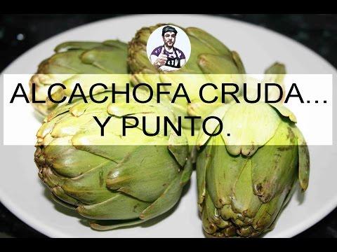 RECETAS VEGANAS - ALCACHOFA CRUDA Y PUNTO