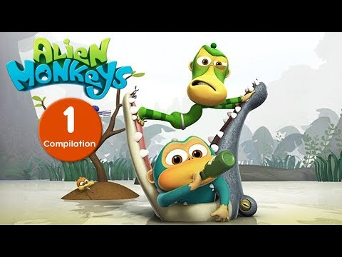 Funny Animated Cartoon - Alien Monkeys - Episodes 1-10 - Cartoons For Children