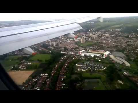 George Best Belfast City Airport. Approach and Landing. Airbus A319