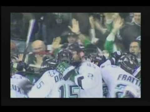 Darcy Zajac scores the GWG North Dakota vs. CC 3/1/2009