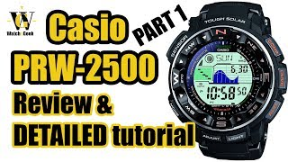 Casio PRW 2500 ProTrek (module 3258) review & tutorial - guide on how to setup timing functions