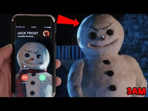 CALLING JACK FROST THE SNOWMAN BEFORE CHRISTMAS AT 3AM | JACK FROST CAME TO MY HOUSE AT CHRISTMAS