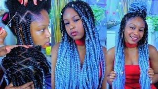 Back To School Teen Diamond Box Braid Hair Style