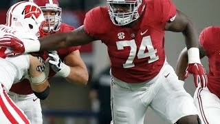 Cam Robinson (Alabama OT) vs Wisconsin 2015