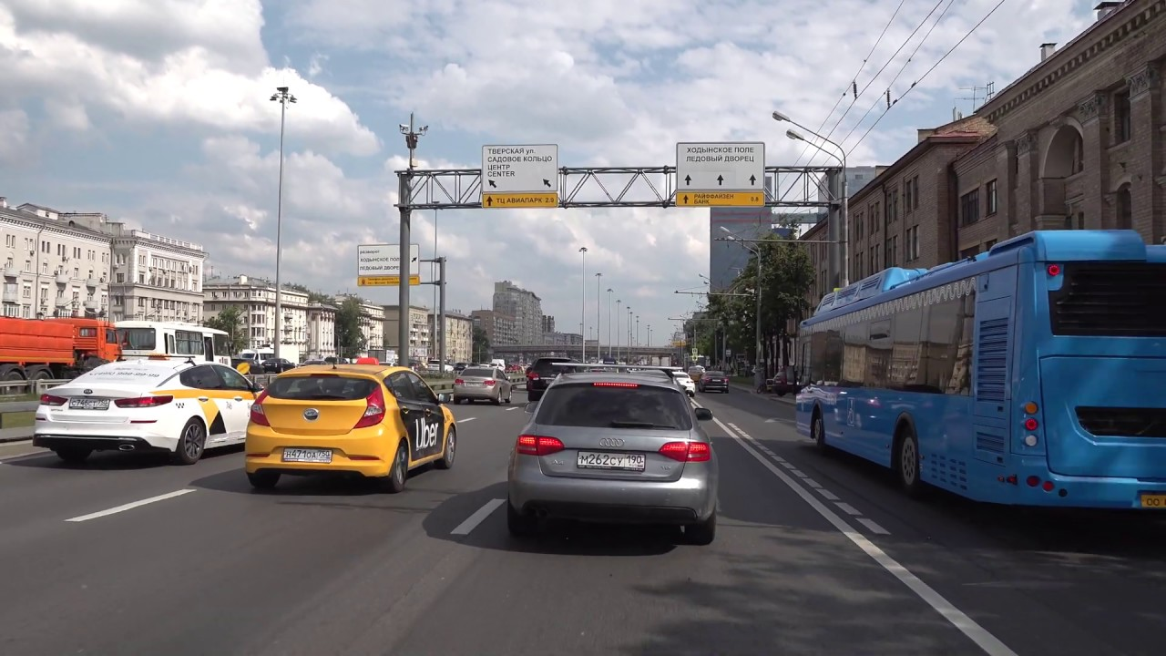 Driving in Moscow 4K - Day and Night