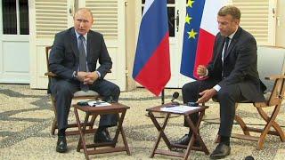 Переговоры президентов России и Франции прошли в закрытом режиме.